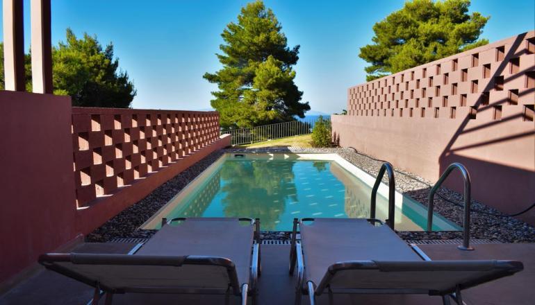 299€ από 598€ ( Έκπτωση 50%) ΚΑΙ για τις 4 ημέρες / 3 διανυκτερεύσεις ΚΑΙ για τα 4 Άτομα, σε Cozy 2 Bedroom Villa, στην Αγία Άννα Ευβοίας στο Amandola Villas! Μαγευτείτε από το καταπράσινο τοπίο! Υπάρχει δυνατότητα επιπλέον διανυκτερεύσεων! εικόνα